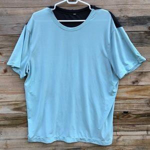 Lululemon | Mens Short Sleeve Blue Gray Shirt